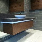 Veneered rest rooms for the O2 London
