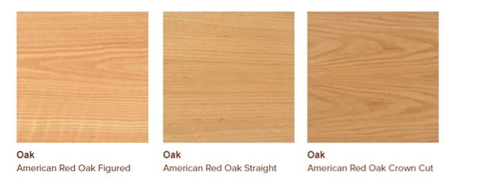 American red oak veneers