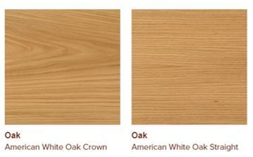 American white oak veneers