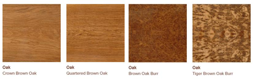 Brown oak veneers