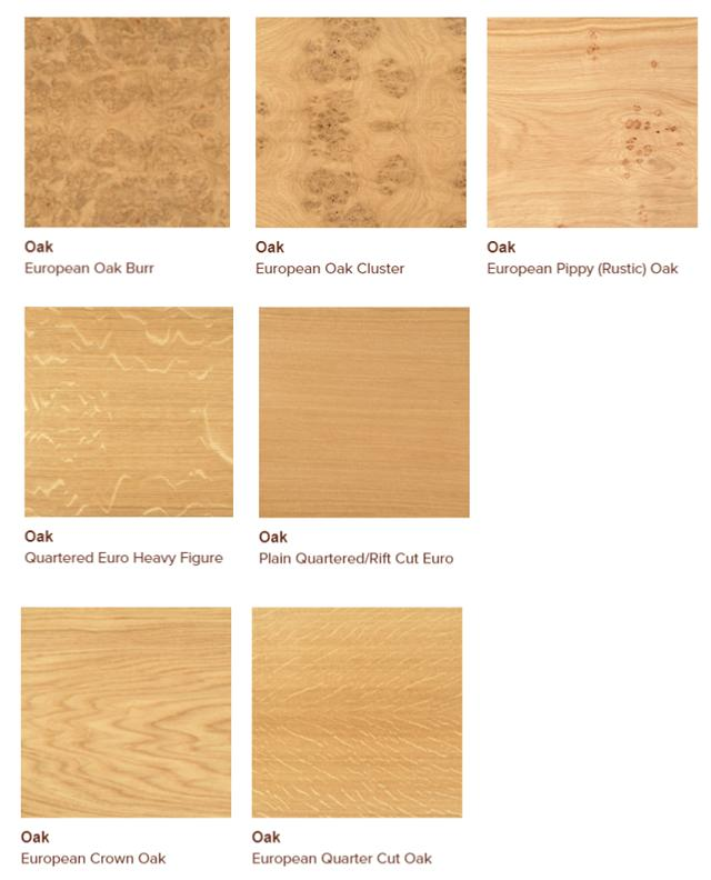 European oak veneers