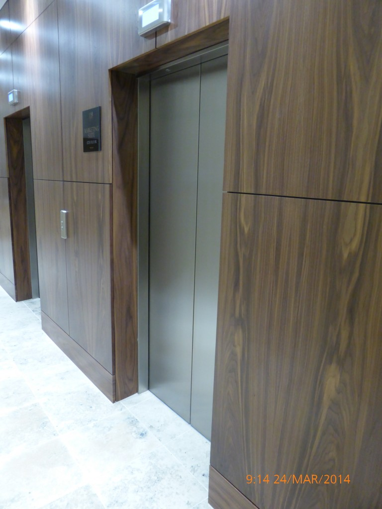 Slip matched wall panelling