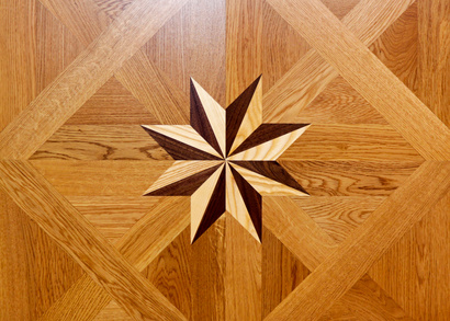 Marquetry can be used to place logos and coats of arms into any wood veneered product.