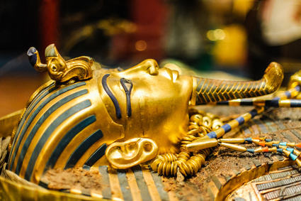 Golden Mask of egyptian pharaoh Tutankhamun, Replica