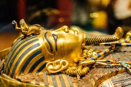 Golden Mask of egyptian pharaoh Tutankhamun, Replica