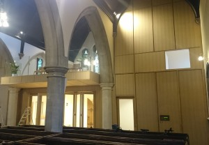 Veneer panels were used in the restoration of Christ Church Kensington.