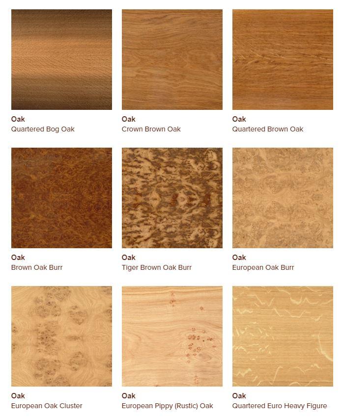 Oak veneers