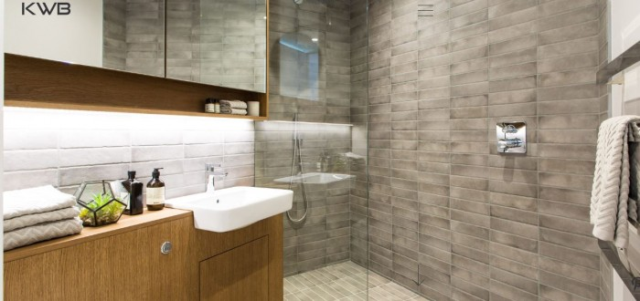 American Oak Quarter Cut Veneered Vanity Unit