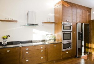 Black American walnut kitchen
